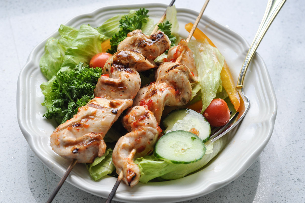 Sweet Thai Chilli Salad Dressing and Chicken Kabobs-8