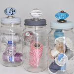 Mason Jar Storage with Decorative Knobs