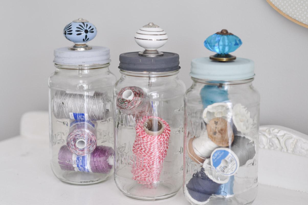 Upcycled Mason Jar Storage-2