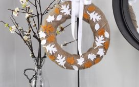 Felt Leaf Autumn Wreath