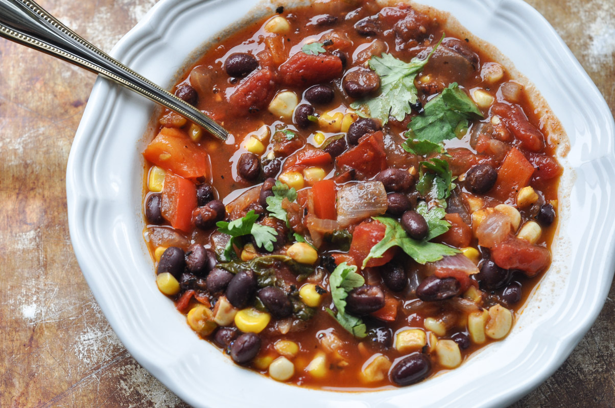 Southwest Black Bean and Corn Soup-2