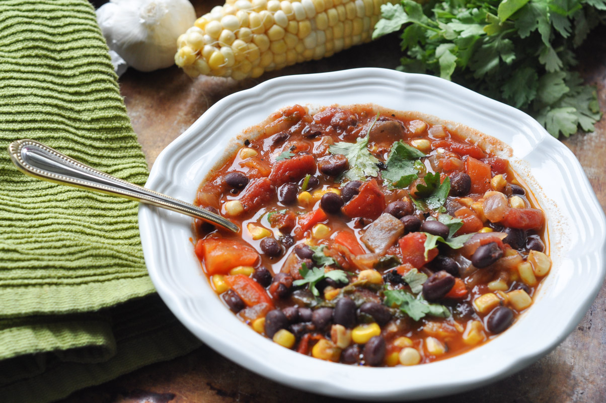 Southwest Black Bean and Corn Soup-4