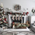 A White And Red Christmas Mantel