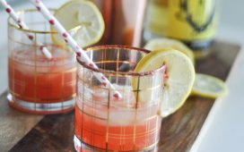 Blood Orange and Limoncello Cocktail