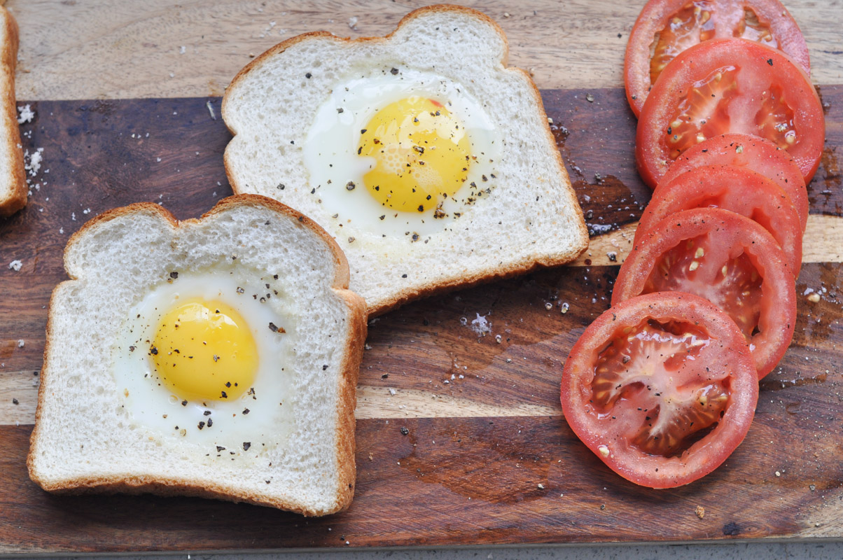 Toad in the Hole - Eggs in Toast Recipe-10