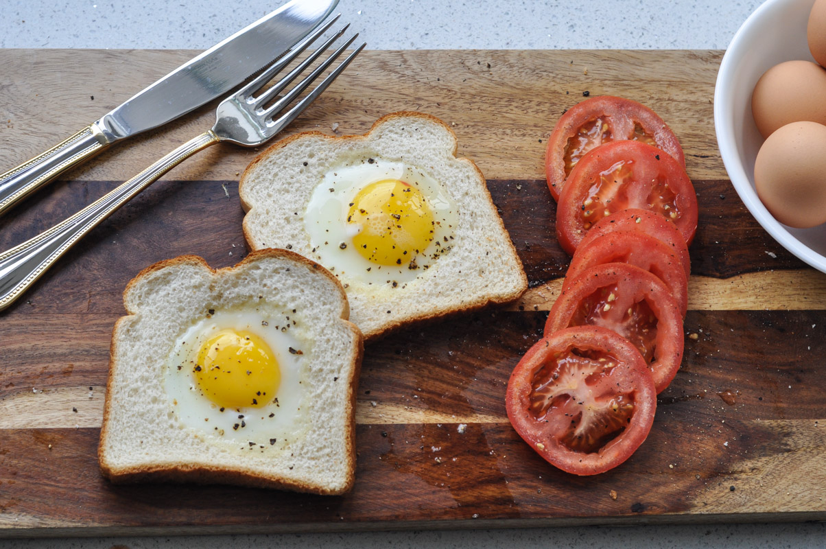 Toad in the Hole - Eggs in Toast Recipe-13