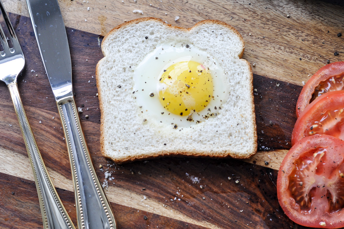Toad in the Hole - Eggs in Toast Recipe-8