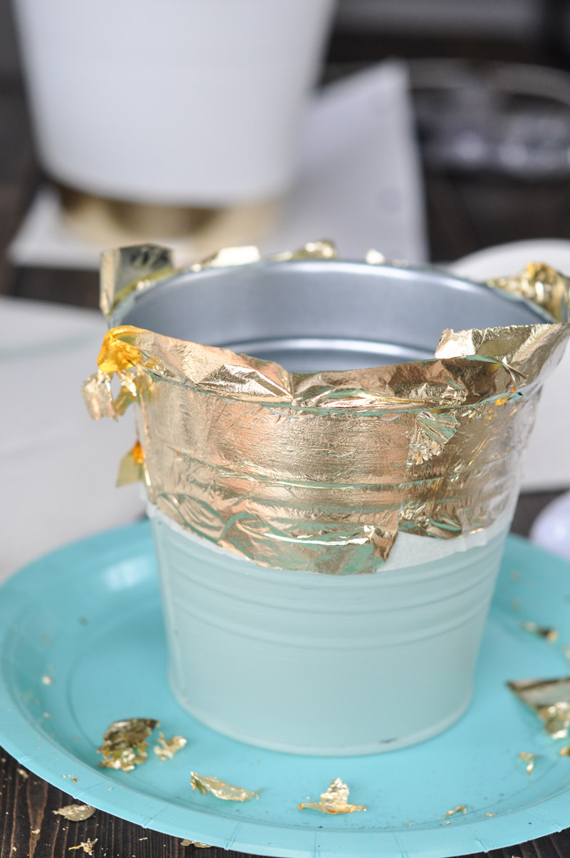 DIY Gold Leaf Planters For Spring-10