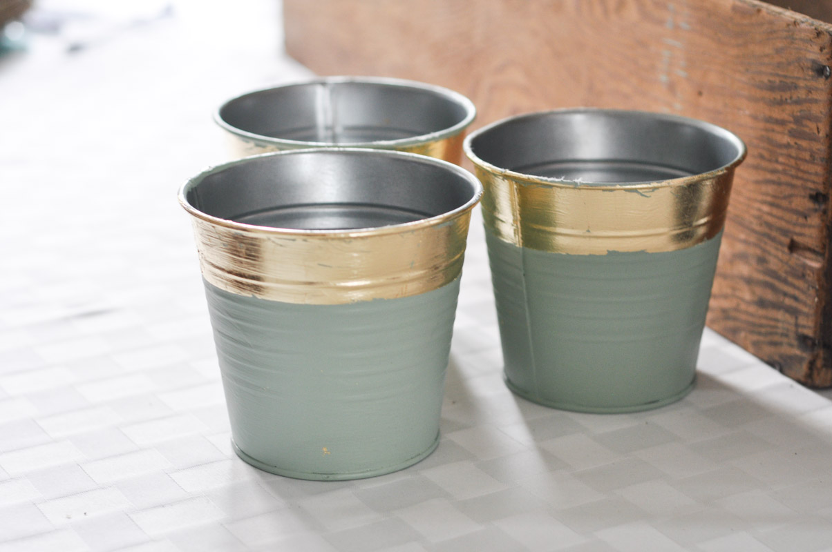 DIY Gold Leaf Planters For Spring-13