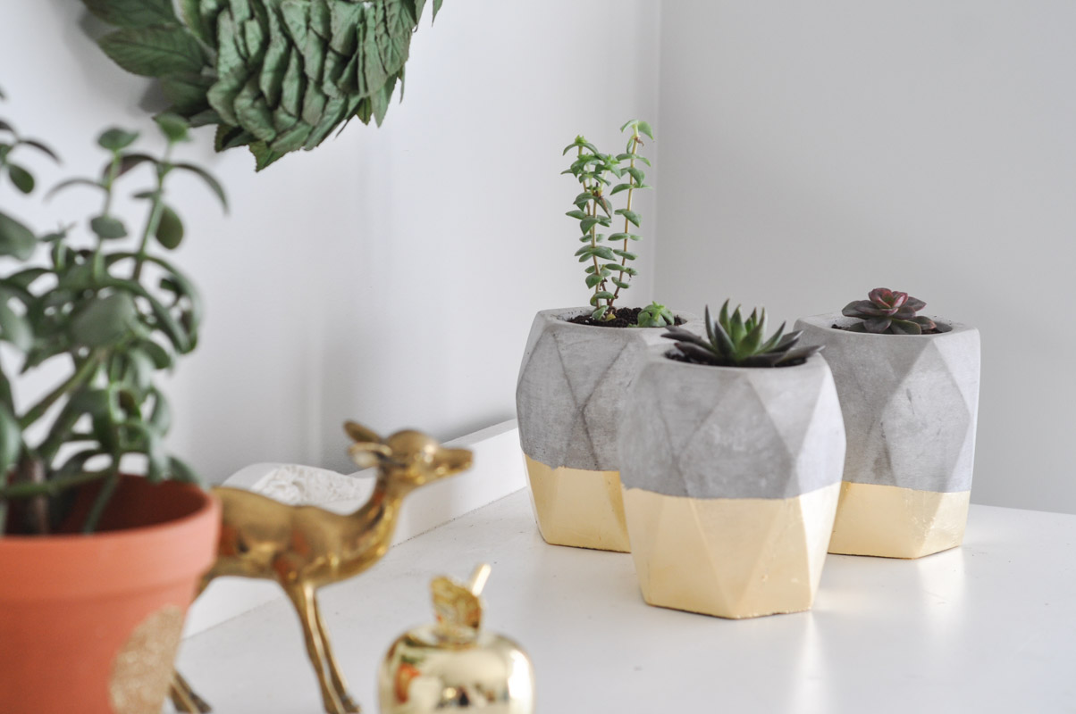 Gold Dipped Geometric Planters-11