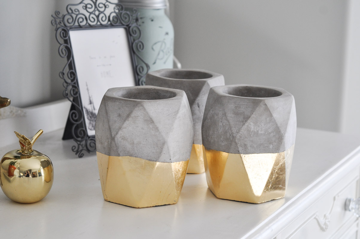 Gold Dipped Geometric Planters-7