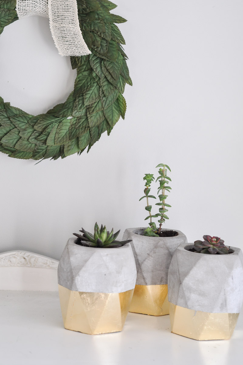 Gold Dipped Geometric Planters-8