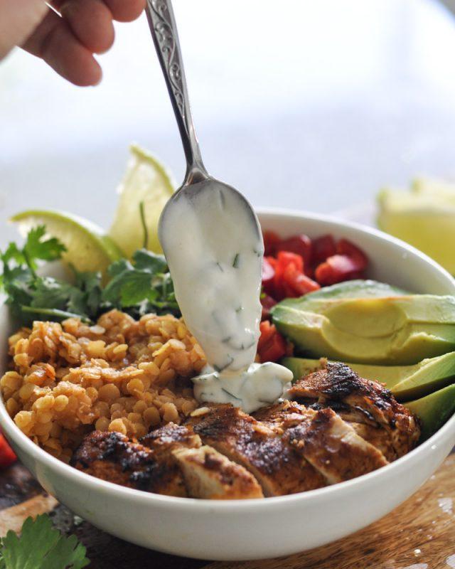 Chili Lime Turkey and Lentil Buddha Bowl-12