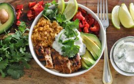 Chili Lime Buddha Bowl with Turkey and Lentils