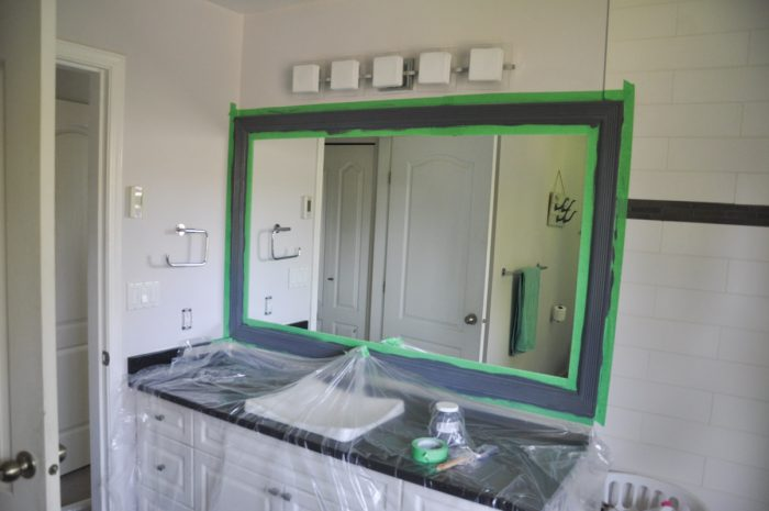 Its All In The Prep Easily Painting Trim Around A Mirror Suburble