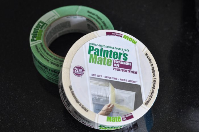 For This Project I Used Two Varieties Of Painter S Mate Green Tape Both The Familiar Variety And Double Sided Poly Hanging