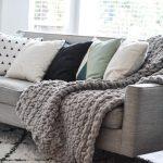 Crocheted Chunky Throw Blanket