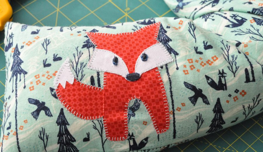 Fox Applique Microwave Heat Bag